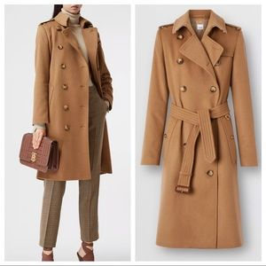 Burberry Regenerated Cashmere Trench Coat brown